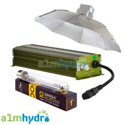 Omega 600W Digital Dimmable Ballast Parabolic Shade Grow Light Kit