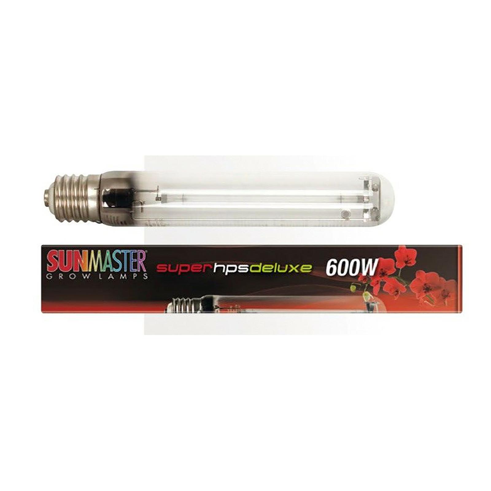 Sunmaster 600w Super HPS Deluxe Grow Lamp Bulb
