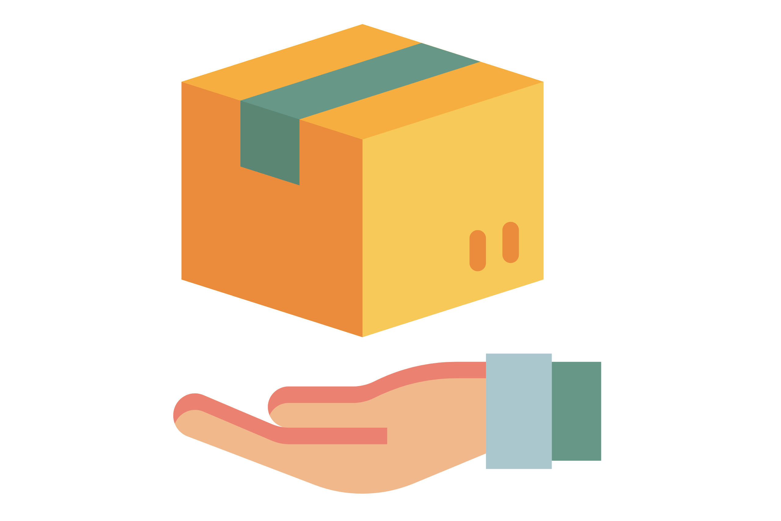 delivery box hand