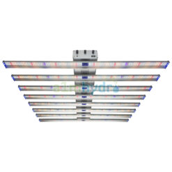 Adjust-a-wing 700w LED Grow Light Hellion 8 Bar Front